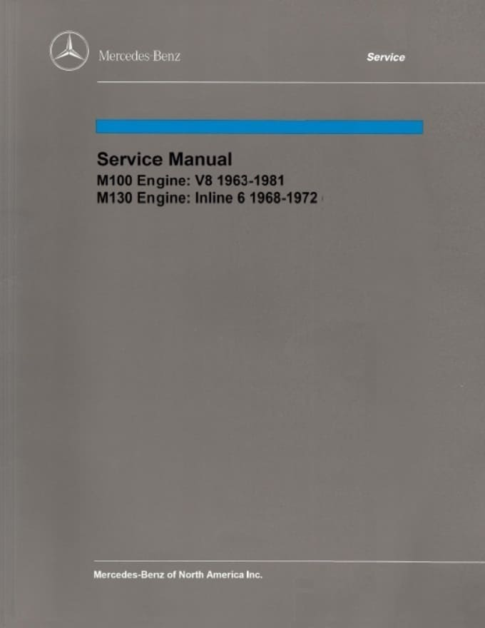 Mercedes  M130 Engine Service Repair Manual