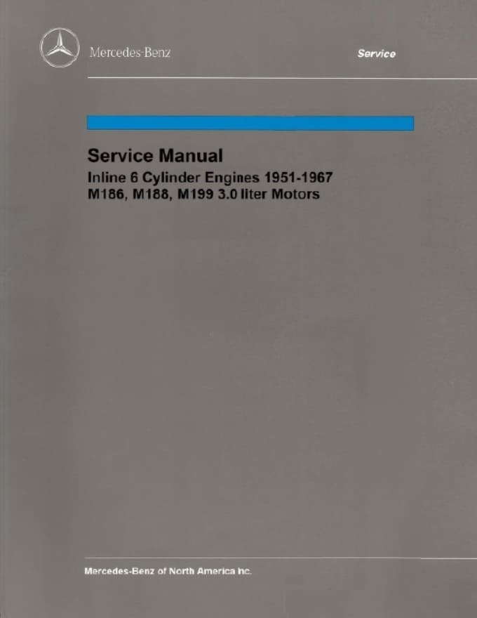 Mercedes M186 M188 M199 Multi Engine Service Repair Manual