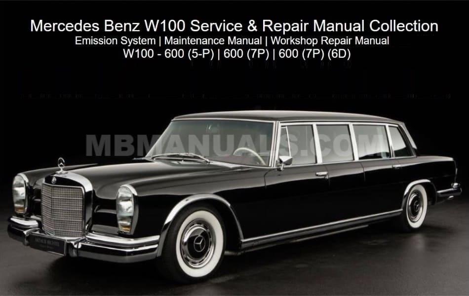 Mercedes Benz 100 W100 Service Repair Manuals