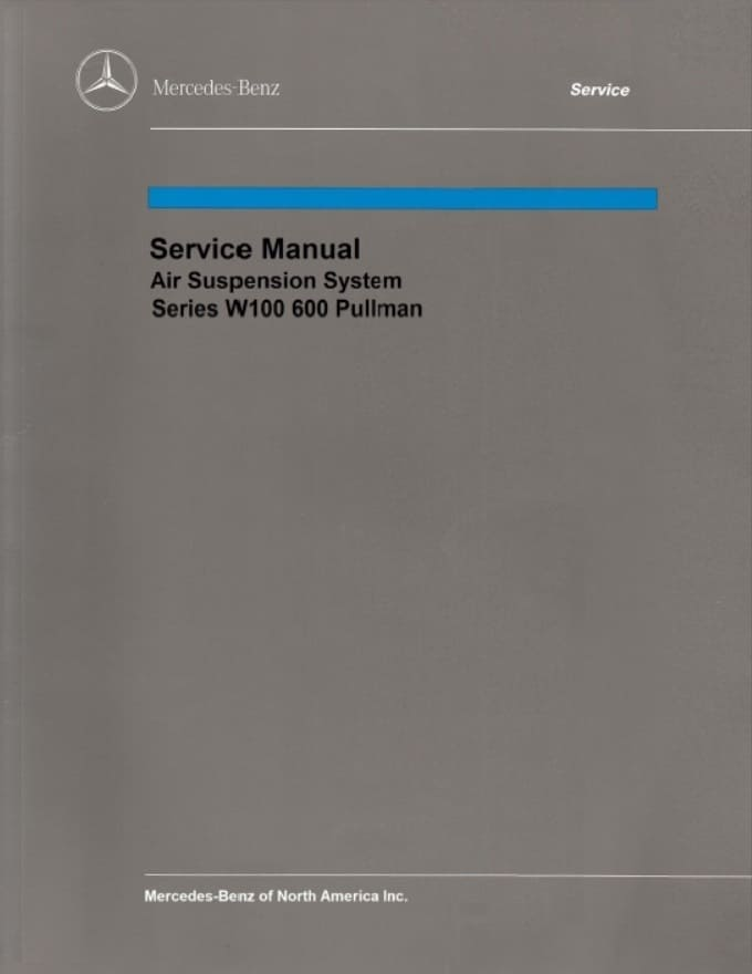 Mercedes Benz 100 W100 Service Repair Manuals