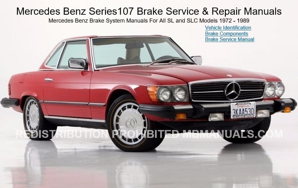 Mercedes Series 107 Brakes Manual