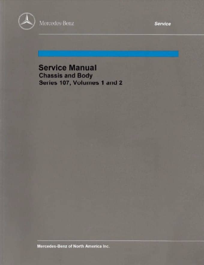 Mercedes R107 380SL Chassis Body Manual