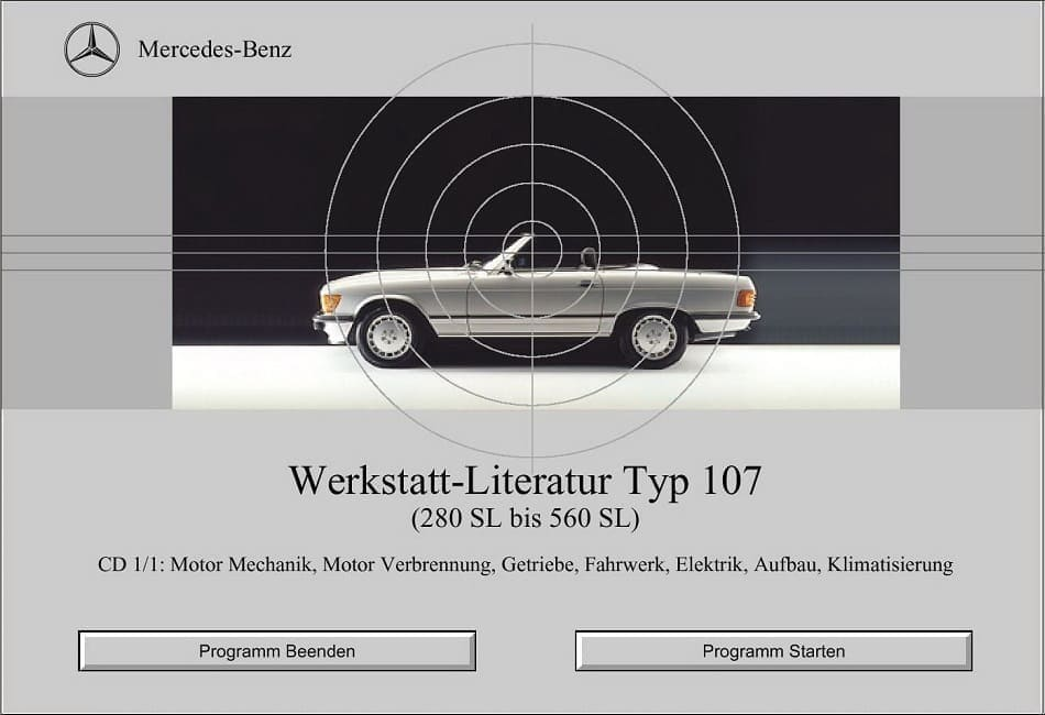 Mercedes C107 280SLC German Workshop Manuals