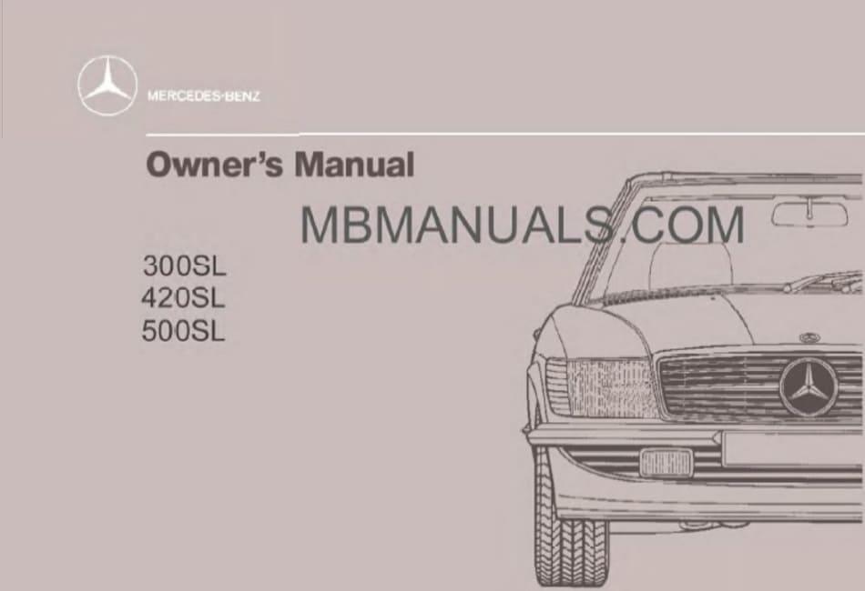 Mercedes Benz R107 300sl Service Repair Manuals