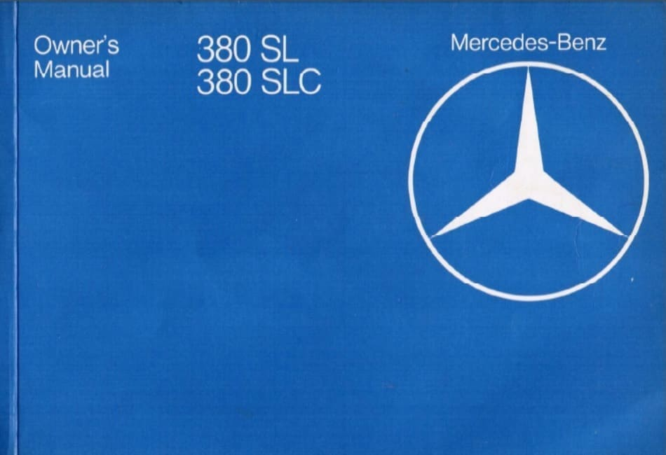 Mercedes Benz C107 380SLC Owners Manual
