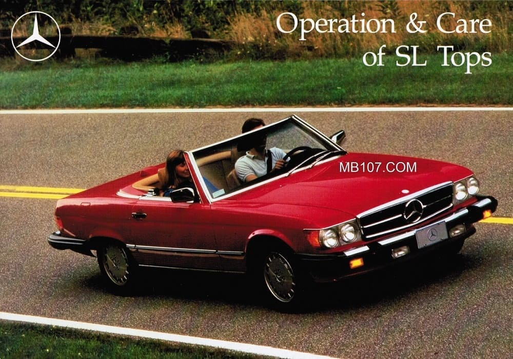 Mercedes R107 500SL Convertible Top Manual