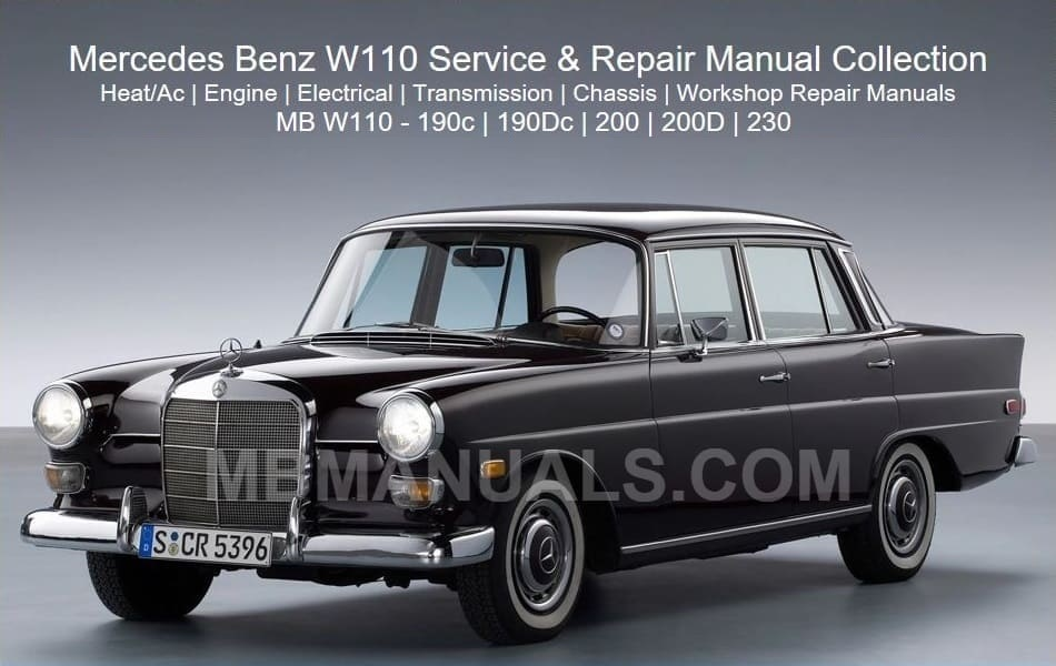[SCHEMATICS_48EU]  Mercedes Benz 110 W110 Service Repair Manuals | 1966 Mercedes 230s Wiring |  | Mercedes Benz Manuals