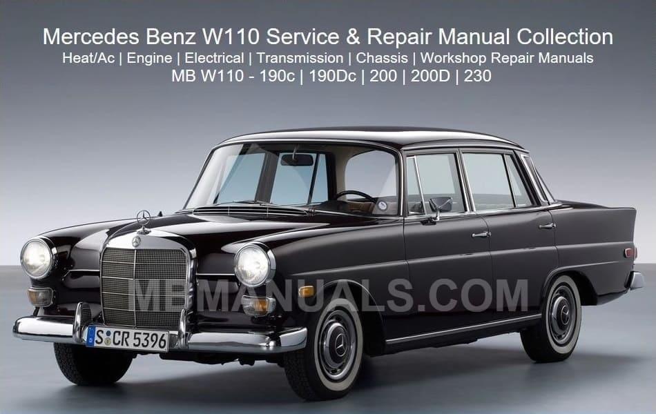 mercedes w110 service repair manuals