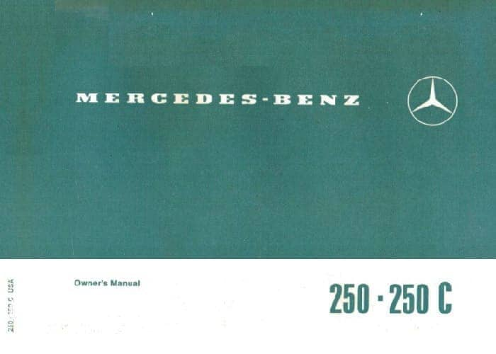 Mercedes W114 250 250c Owners Manual
