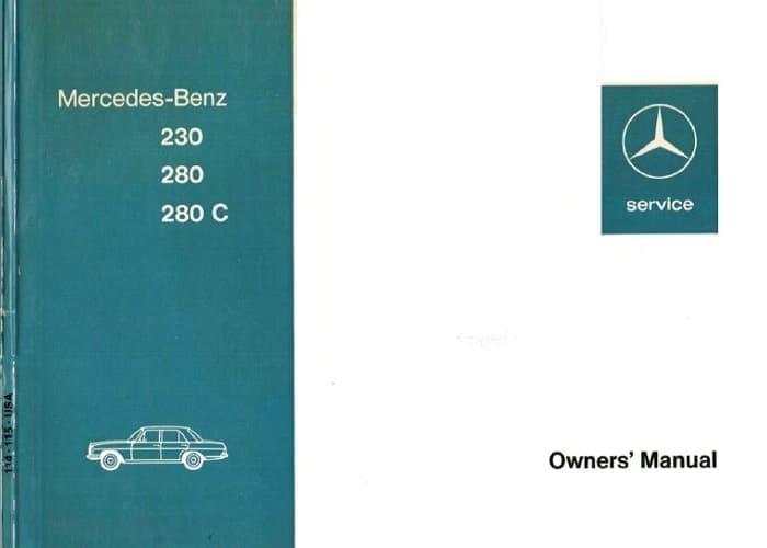 Mercedes W114 230 280 280c Owners Manual