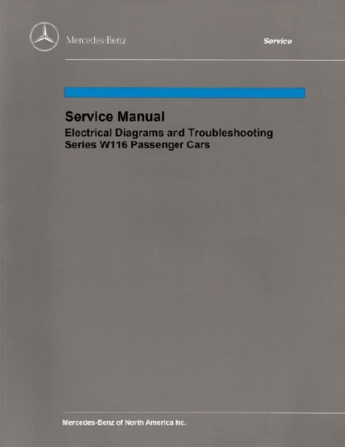 Mercedes W116 Electrical Manual