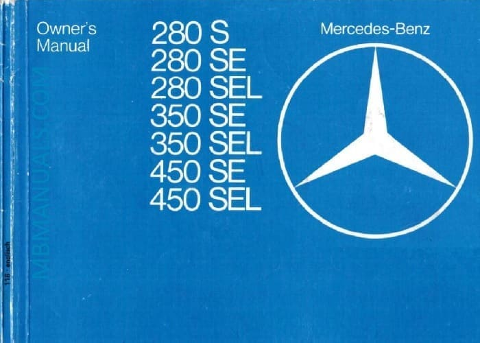 Mercedes W116 Owners Manual