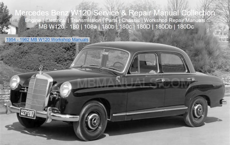 Mercedes W120 Service Repair Manuals