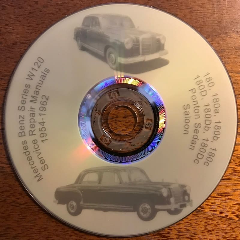 Mercedes W120 180 Workshop Manuals CD