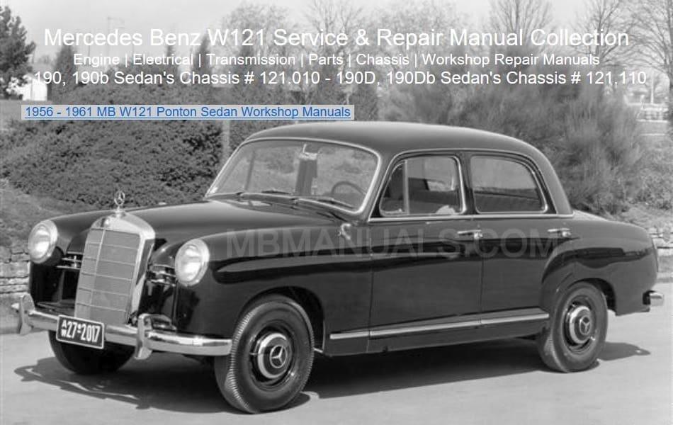 Mercedes Benz 121 W121 Service Repair Manuals