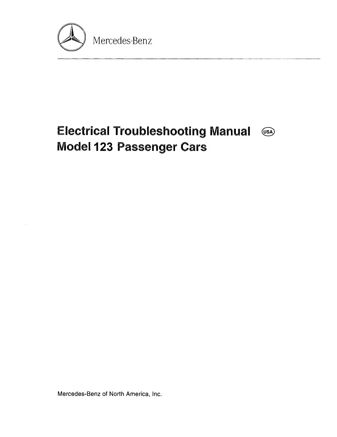 Mercedes W123 Electrical Manual