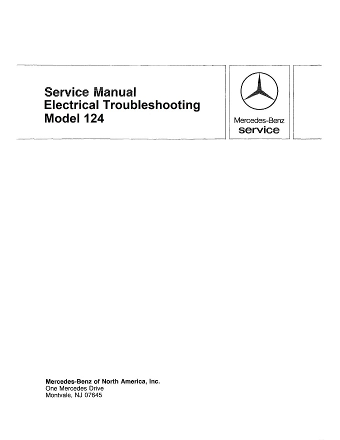 Mercedes W124 Electrical Manual