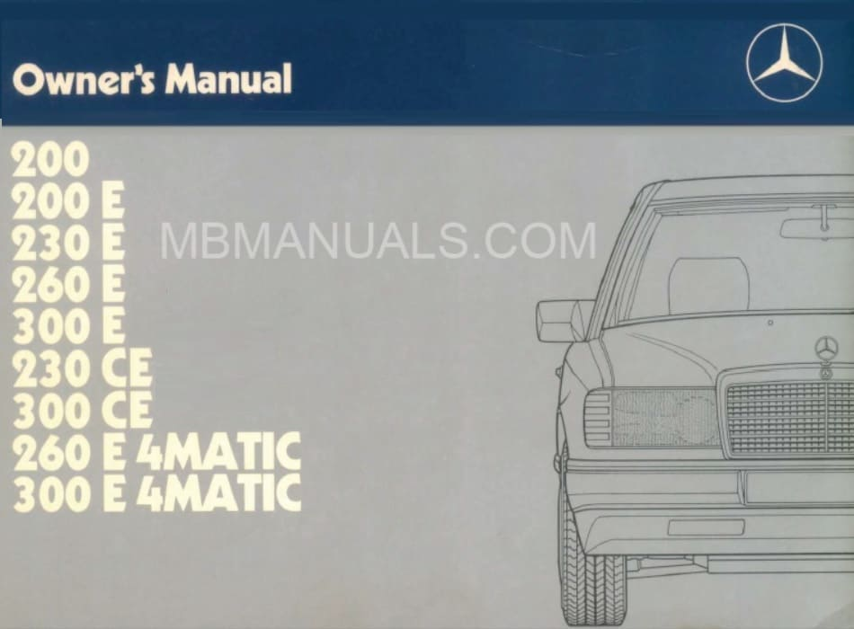 Mercedes W124 Owners Manuals