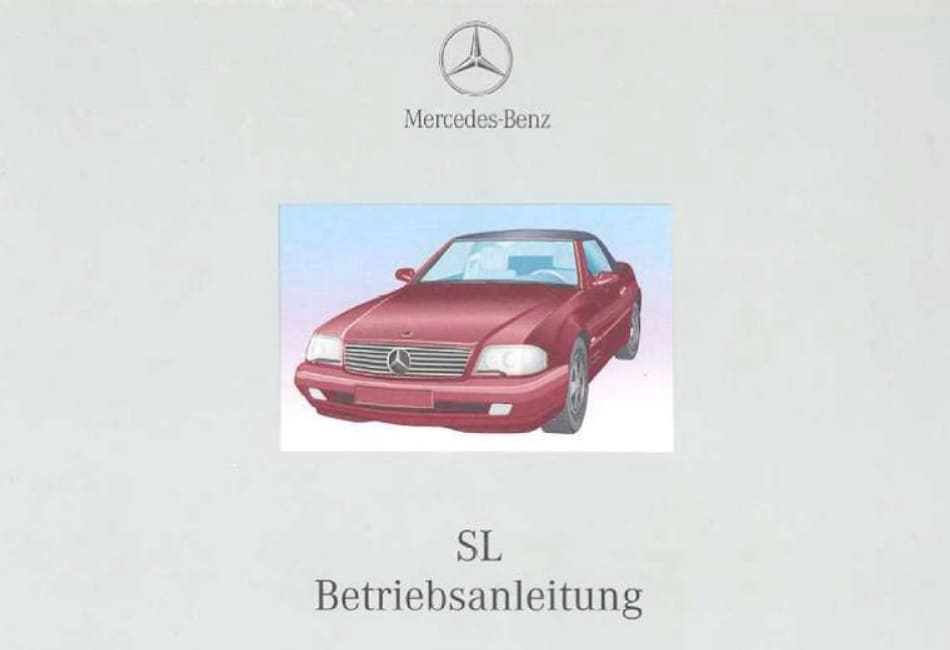 Bedienungsanleitung Mercedes Benz SL Klasse R129 SL 280 320 500 ...