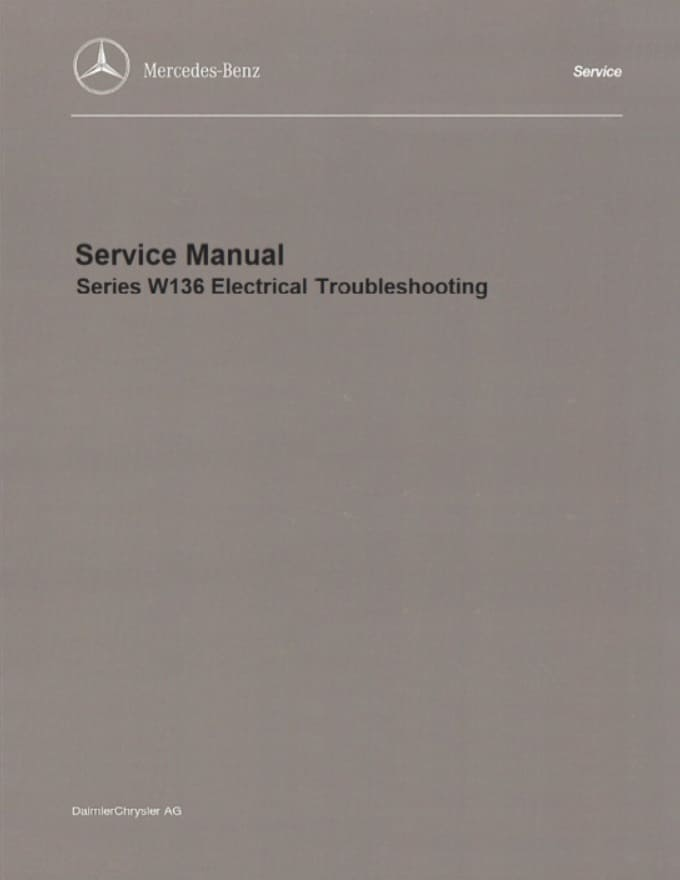 Mercedes W136 Electrical Manual