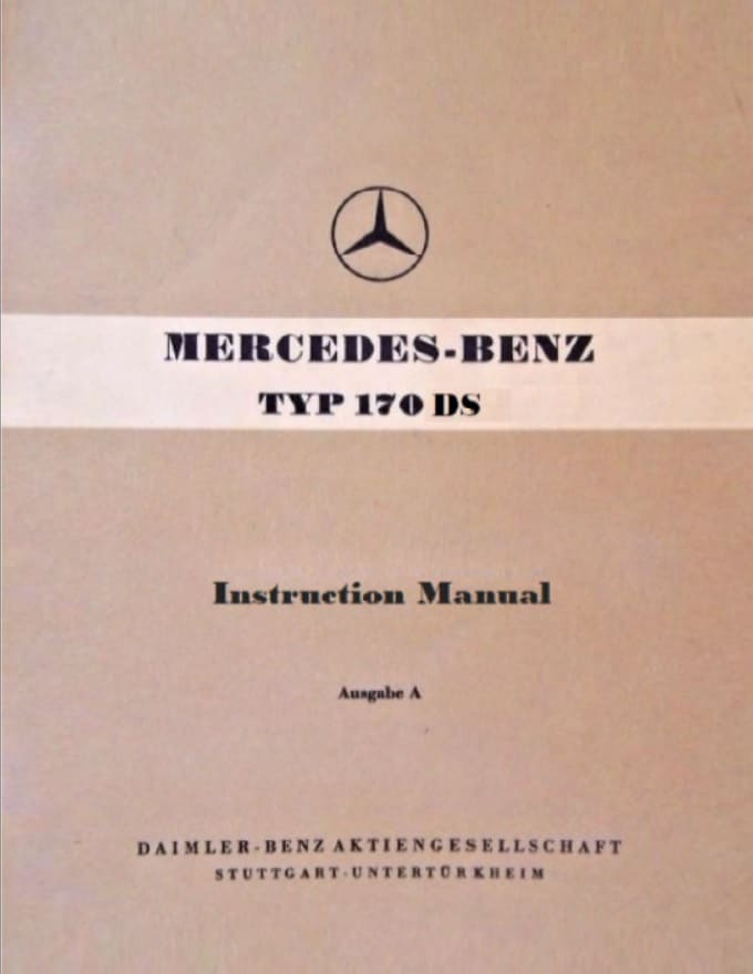 Mercedes W136 170DS Owners Manual