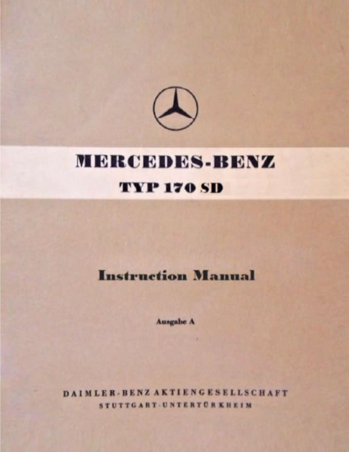 Mercedes W136 170SD Owners Manual