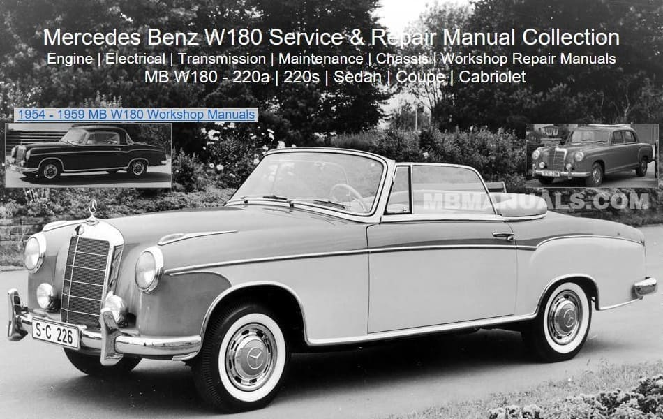 Mercedes W180 Service Repair Manuals