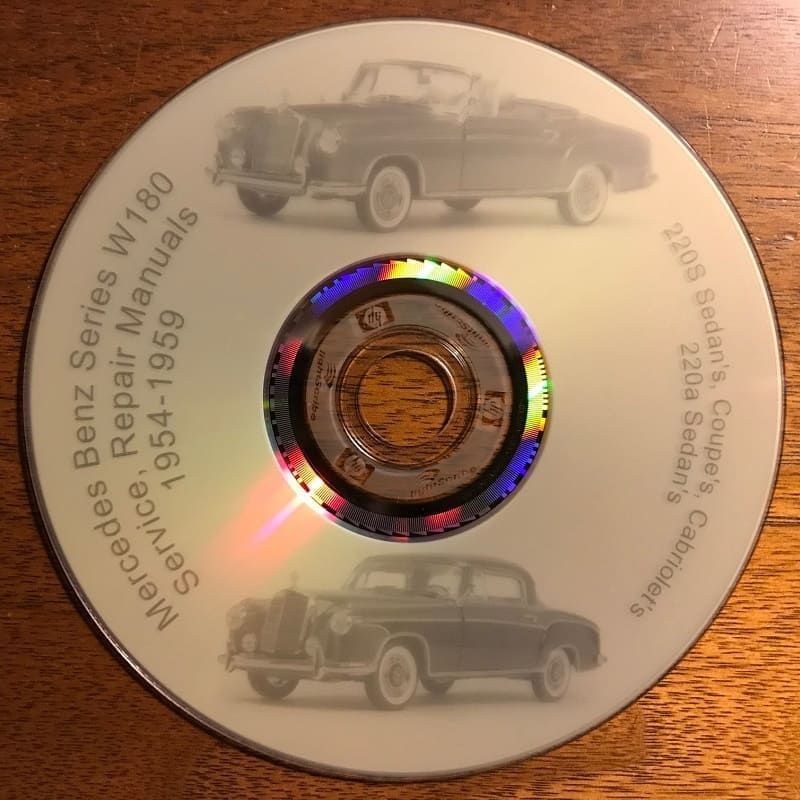 Mercedes W180 220 Workshop Manuals CD