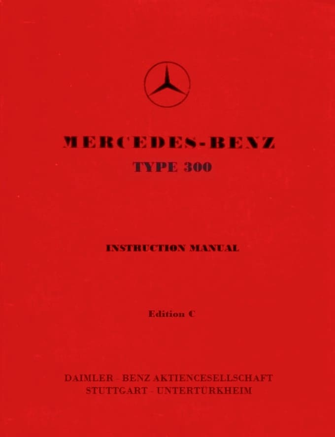 Mercedes W186 300C Owners Manual pdf