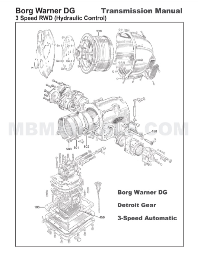 Mercedes W186 300c Transmission Parts Manual