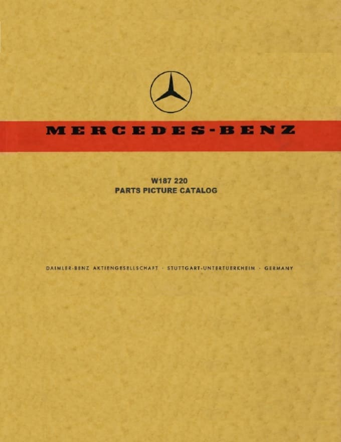 Mercedes Benz W187 200 Parts Catalog