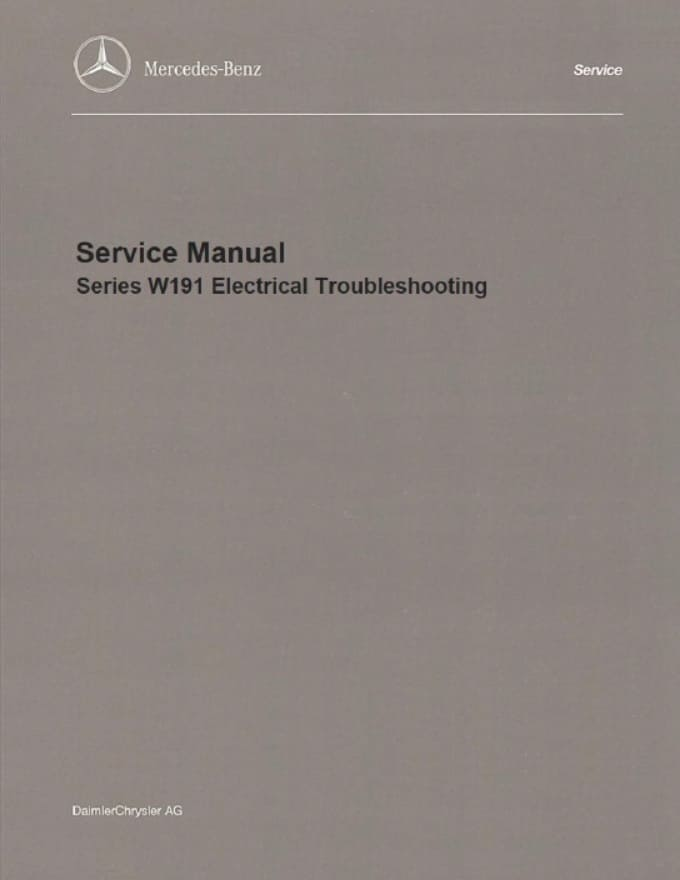 Mercedes W191 Electrical Manual