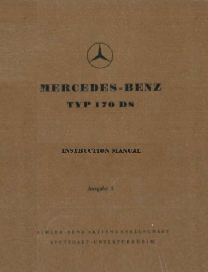 Mercedes W191 170DS Owners Manual pdf