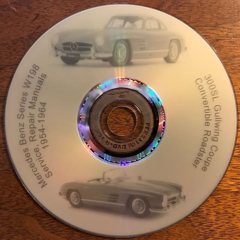 Mercedes W198 Workshop Repair Manuals CD