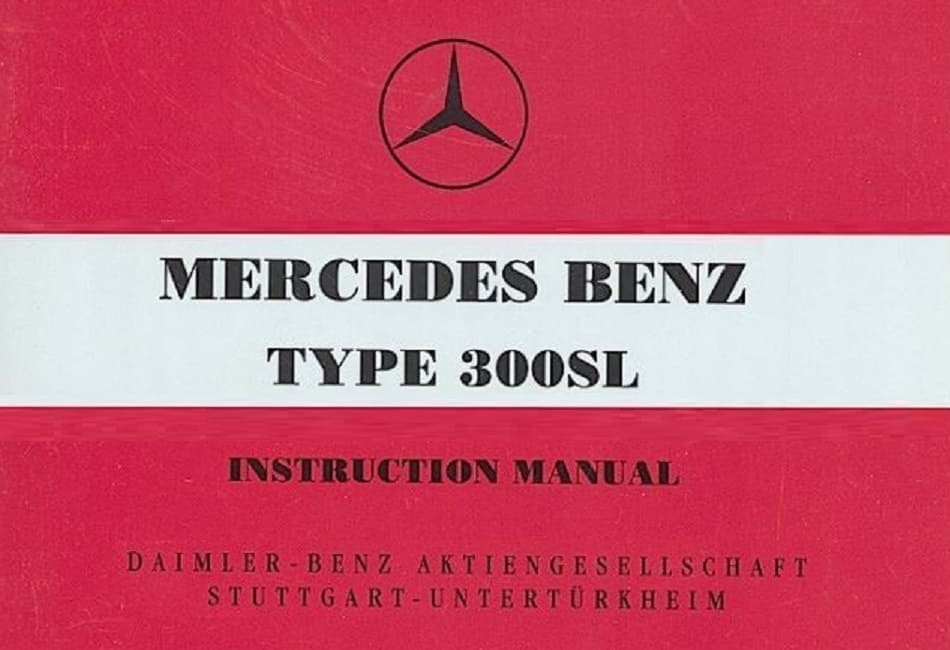 Mercedes Benz W198 Gullwing 300SL Owners Manuals