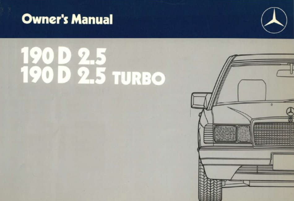 W201 190 Owners Manuals