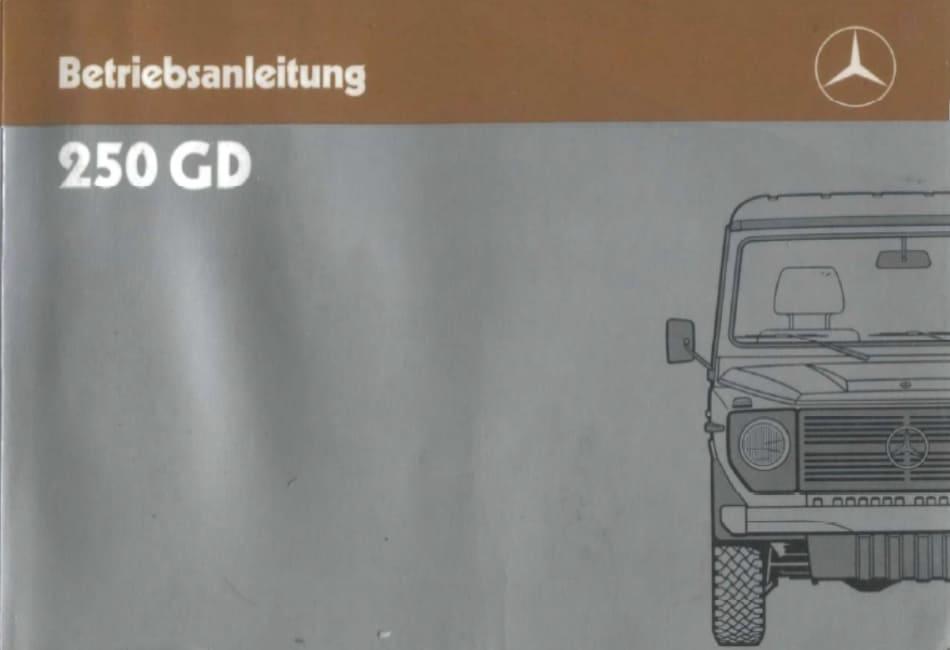 Betriebsanleitung Mercedes Benz 240GD G-Klasse 460 OM616 Bedienung ...