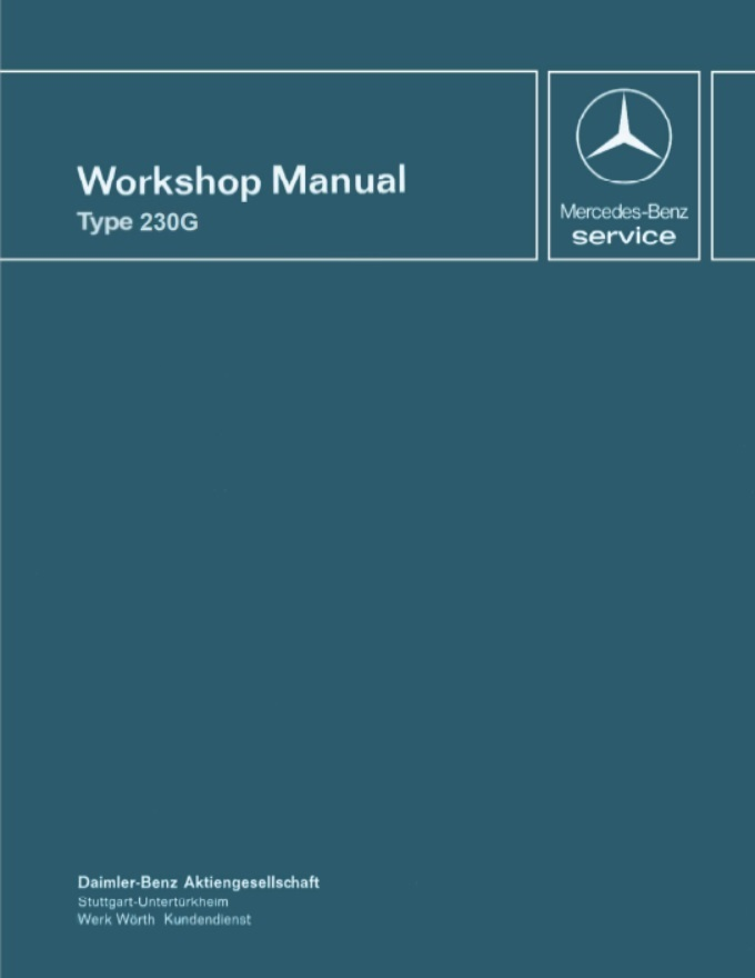 Mercedes Benz W460 230G Workshop Manual .pdf