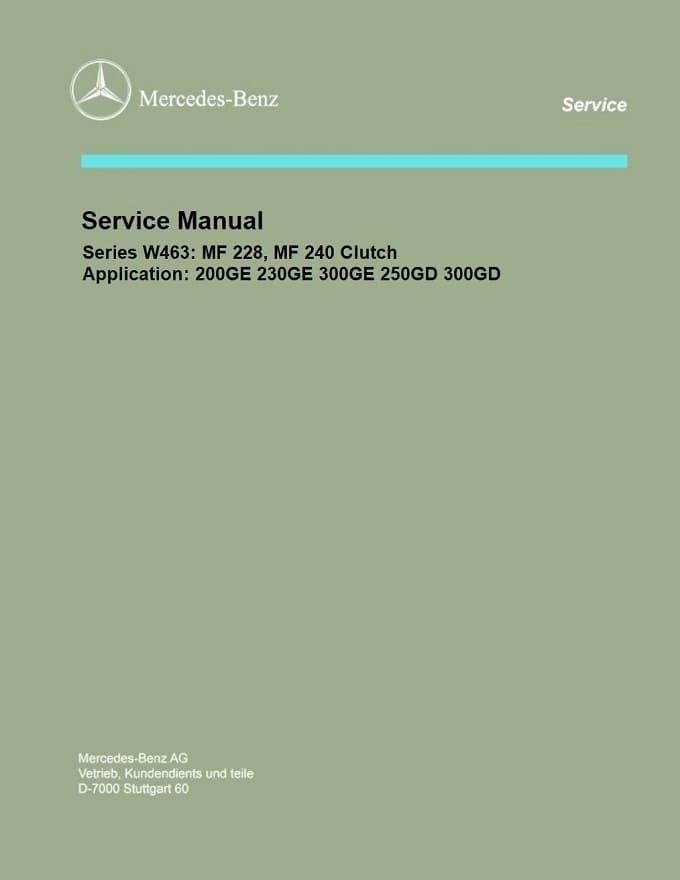 Mercedes Benz 463 W463 Service Repair Manuals