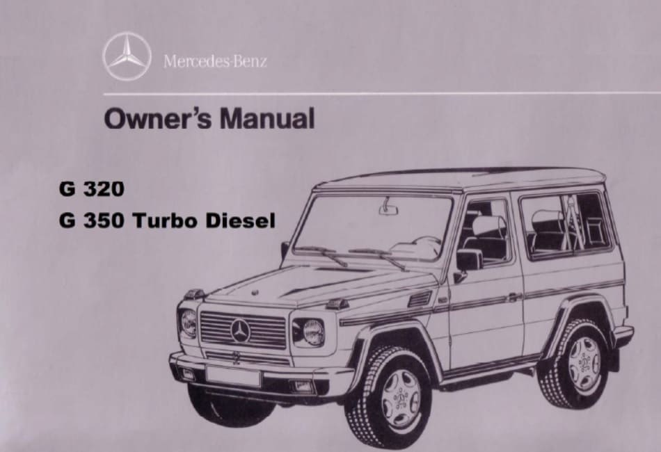 Mercedes W463 G320 G350 Turbodiesel Owners Manual