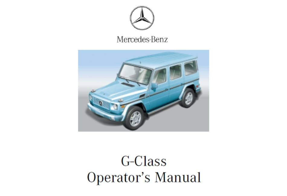 Mercedes W463 G500 Owners Manual