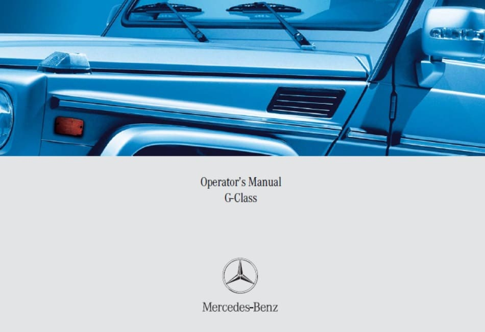Mercedes W463 G500 G55 AMG Owners Manual