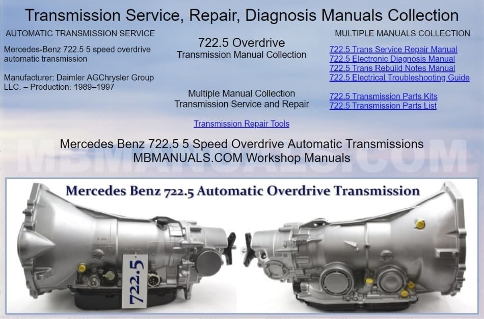 Mercedes Benz 722.5 Automatic Transmission Manual