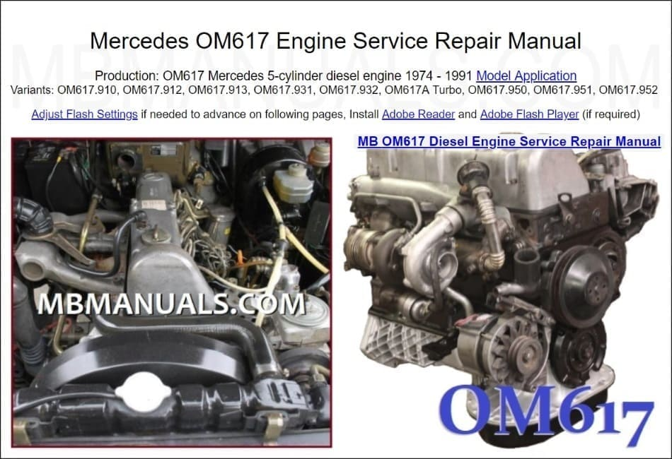 Mercedes OM617 Engine Manual