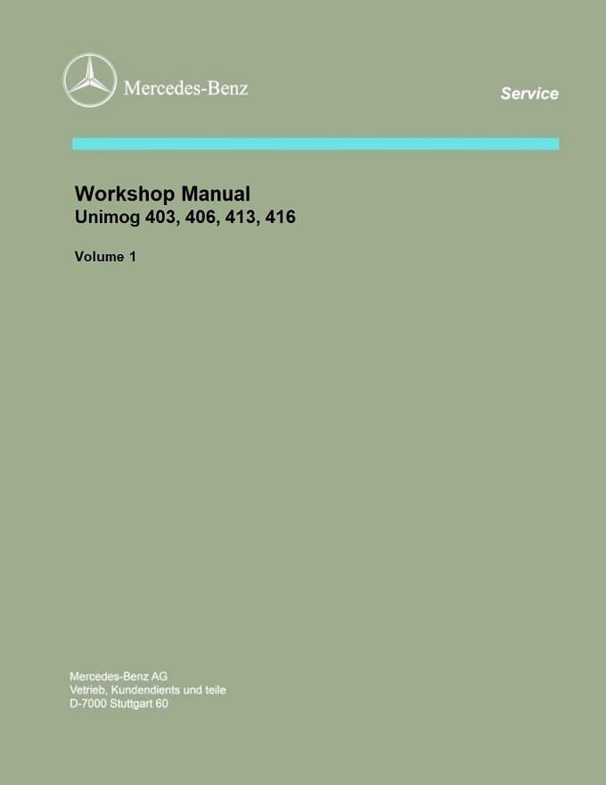 Mercedes-Benz Unimog 406 416 403 413 Instruction Manual NEW